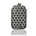 Luxury Bling Holster Covers Leopard diamond Crystal Cases for iPhone 5C - Black