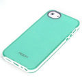 ROCK Joyful free Series Leather Cases Holster Covers for iPhone 5C - Green