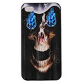Skull Hard Back Cases Covers Skin for iPhone 5C - Black EB004