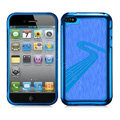 Slim Metal Aluminum Silicone Cases Covers for iPhone 5C - Blue