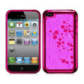 Slim Metal Aluminum Silicone Cases Covers for iPhone 5C - Rose