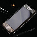 Swarovski Bling Metal Leather Case Cover Protective shell for iPhone 5C - Black