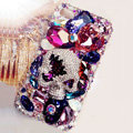 Swarovski Bling crystal Cases Skull Luxury diamond covers for iPhone 5C - Purple