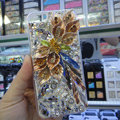 Swarovski crystal cases Bling Flower diamond covers for iPhone 5C - Champagne