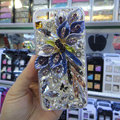 Swarovski crystal cases Bling Flower diamond covers for iPhone 5C - Purple