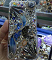 Swarovski crystal cases Bling Flowers diamond cover skin for iPhone 5C - White