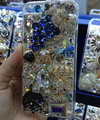 Swarovski crystal cases Bling Grapes diamond cover for iPhone 5C - Blue