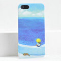 Ultrathin Matte Cases Sea girl Hard Back Covers for iPhone 5C - Blue