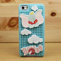3D Elephant Cover Disney DIY Silicone Cases Skin for iPhone 5S - Blue