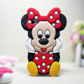 3D Minnie Mouse Silicone Cases Skin Covers for iPhone 5S - Red
