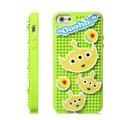 3D Stitch Cover Disney DIY Silicone Cases Skin for iPhone 5S - Green