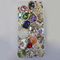 Bling Swarovski crystal case Hello kitty Flower diamond cover for iPhone 5S - White
