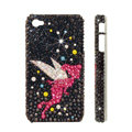 Bling Swarovski crystal cases Angel diamond covers for iPhone 5S - Black