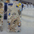 Bling Swarovski crystal cases Angel star diamond covers for iPhone 5S - White