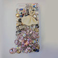 Bling Swarovski crystal cases Ballet girl diamond cover for iPhone 5S - Pink