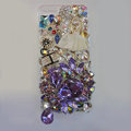 Bling Swarovski crystal cases Ballet girl diamond cover for iPhone 5S - Purple
