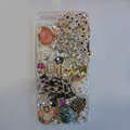 Bling Swarovski crystal cases Ballet girl diamond cover for iPhone 5S - White