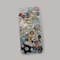 Bling Swarovski crystal cases Beetle Butterfly diamond cover for iPhone 5S - Black