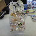 Bling Swarovski crystal cases Bowknot diamond cover for iPhone 5S - White