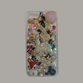 Bling Swarovski crystal cases Cat diamond cover for iPhone 5S - Pink