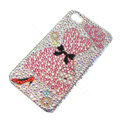 Bling Swarovski crystal cases Clothing diamond covers for iPhone 5S - Pink