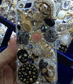 Bling Swarovski crystal cases Crown Skull diamond cover for iPhone 5S - Black