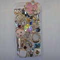 Bling Swarovski crystal cases Flower diamond cover for iPhone 5S - Pink