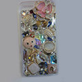 Bling Swarovski crystal cases Flower diamond covers for iPhone 5S - Pink