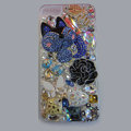Bling Swarovski crystal cases Fox diamond cover for iPhone 5S - Blue
