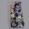 Bling Swarovski crystal cases Heart diamond cover for iPhone 5S - White