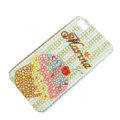 Bling Swarovski crystal cases Ice cream diamond covers for iPhone 5S - Brown