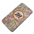 Bling Swarovski crystal cases Leopard diamond covers for iPhone 5S - Brown