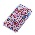 Bling Swarovski crystal cases Leopard diamond covers for iPhone 5S - Red