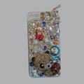 Bling Swarovski crystal cases Panda diamond cover for iPhone 5S - Gold