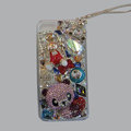 Bling Swarovski crystal cases Panda diamond cover for iPhone 5S - Pink