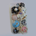 Bling Swarovski crystal cases Pumpkin Trojan diamond cover for iPhone 5S - Blue