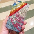 Bling Swarovski crystal cases Rainbow diamond covers for iPhone 5S - Blue