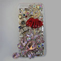 Bling Swarovski crystal cases Red Ballet girl diamond cover for iPhone 5S - Pink