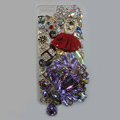 Bling Swarovski crystal cases Red Ballet girl diamond cover for iPhone 5S - Purple