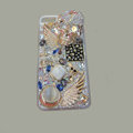 Bling Swarovski crystal cases Skull diamond cover for iPhone 5S - White