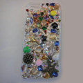 Bling Swarovski crystal cases Star diamond cover for iPhone 5S - Gold
