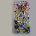 Bling Swarovski crystal cases Star diamond cover skin for iPhone 5S - Gold