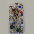 Bling Swarovski crystal cases Stars diamond cover for iPhone 5S - White