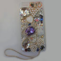 Bling Swarovski crystal cases Swan diamond cover for iPhone 5S - Purple