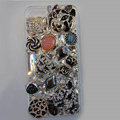 Bling Swarovski crystal cases Tiger diamond cover for iPhone 5S - Black