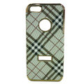 Burberry Luxury leather Cases Hard Back Covers for iPhone 5S - Brown