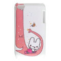 Cartoon cat Silicone Cases covers for iPhone 5S - Red