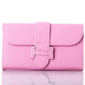 Classic Hermes High Quality Leather Flip Cases Holster Covers For iPhone 5S - Pink