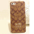 Coach Painting Hard Cases matte Cover Skin for iPhone 5S - Brown