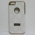 GUCCI Luxury leather Cases Hard Back Covers Skin for iPhone 5S - White